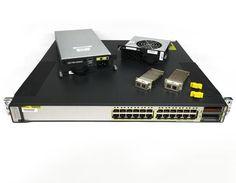 Cisco Catalyst 3750E-24TD-S Gigabit Switch 24-Port 2x X2-10GB-LX4 1x PWS 1x FAN