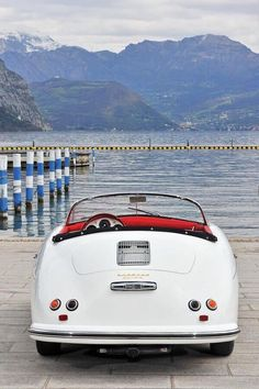 Vintage Cars porsche 356 carrera 1500 speedster - Ahhh--a white vintage Porsche in white? Practically nothing better. This killer ride would make a great purchase for anyone who is a collector or simply has Carros Porsche, Porsche Autos, Porsche 356a, Porsche 356 Speedster, Porsche Cars, Porsche Carrera, Porsche 2017, Luxury Sports Cars, Classic Sports Cars