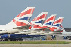 British Airways 747`s at London Heathrow
