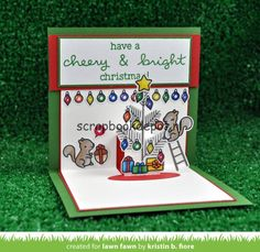 Scrapbookdepot - Lawn Fawn Clear Stamps 4x6inch - Cheery Christmas - LF1216…