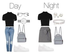 """Day to Night #4"" by alvinaginting on Polyvore featuring Topshop, Miss Selfridge, NIKE, Fendi, Allurez, Ray-Ban and Hermès"