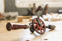 Antique hand drill. Photo by Stuart Mullenberg.