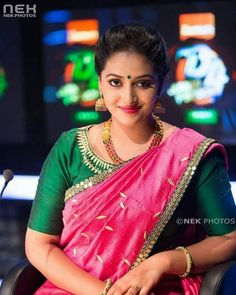 Try these sensational saree blouse designs - Indian Fashion Ideas Cute Beauty, Beauty Full Girl, Beauty Women, South Indian Bride, South Indian Actress, Most Beautiful Indian Actress, Beautiful Actresses, Beautiful Girl Image, Beautiful Women