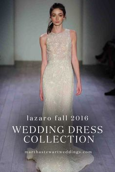 Lazaro Fall 2016 Wedding Dress Collection | Martha Stewart Weddings - Lazaro Perez debuted his Fall 2016 Lazaro wedding dress collection at Bridal Fashion Week. See the latest designs, straight from the runway.