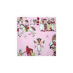 sagebrush Sweethearts Fabric, Pony Fabric, Vintage Cowgirl Fabric, Western Fabric, Girls Fabric, Childrens Fabric found on Polyvore