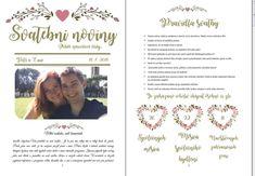 Svatební noviny - Obchod - Svatební tiskoviny Program, Words, Weddings, Wedding, Marriage, Horse