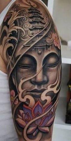 buddha tattoo sleeve design - Google Search