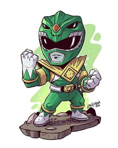 Power Rangers Gree Ranger by Laufman Cartoon Art, Cartoon Characters, Chibi Marvel, Go Go Power Rangers, Power Rangers Comic, Green Ranger, Mighty Morphin Power Rangers, Geek Culture, Comic Art