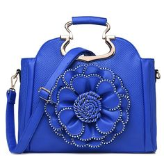 98.62$  Buy here - http://ali5hb.worldwells.pw/go.php?t=32716003122 - 2016 Winter New Lady Handbag Luxury Rhinestone Diamond Flower Rose Big Totes National Style Fashion Satchel Bags
