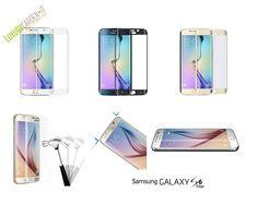Pellicola Samsung S6 Edge Galaxy In Vetro Temperato Curvo Copertura Bordi Curva