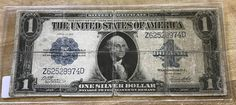 1923 Silver Certificate One Dollar blue seal large size by IroquoisCopper on Etsy