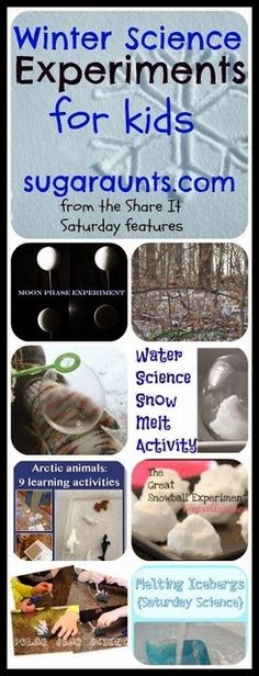 Winter Science Experiments for kids. By Sugar Aunts