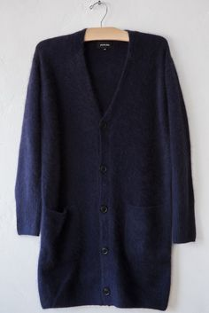 pas de calais navy long cardigan