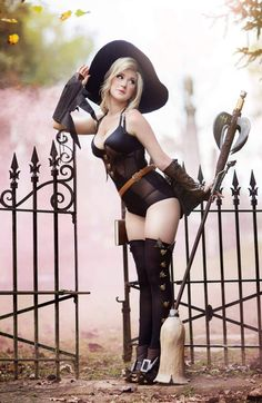 Cosplay: Witch Mercy from Overwatch.
