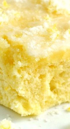 Buttermilk Lemon Sheet Cake With a Crunchy Lemon Sugar Topping... Refreshing and Super Delicious!