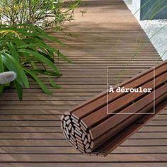 Terrasse en bois à dérouler