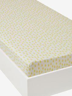 """Spannbettlaken """"Tropfen"""" von Vertbaudet in gelb tropfen - Nur € 2,95 Versand! Kinderzimmer jetzt bei Vertbaudet bestellen!"""