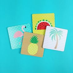 Now the warmer weather is finally here can we please sit some cocktails on these cute coasters?  Available from http://ift.tt/1ihQVKN