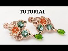 Soutache Tutorial, Earring Tutorial, Soutache Jewelry, Beaded Earrings, Beaded Jewelry, Diy Jewelry, Fashion Jewelry, Jewelry Making, Beading Tutorials