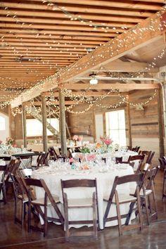 fairy lights everywhereeeee/idea for barn wedding Chic Wedding, Perfect Wedding, Wedding Blog, Wedding Styles, Our Wedding, Wedding Venues, Dream Wedding, Wedding Reception, Rustic Wedding