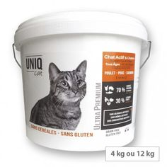 Croquettes sans céréales chat - chaton - Uniq Cat Les Croquettes, Active, Tableware, Immune System, Cats And Kittens, Dinnerware, Tablewares, Dishes, Place Settings