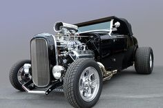 Gorgeous Black deuce roadster powered by a blown Hemi, what could be better?  Good Guys Del Mar California