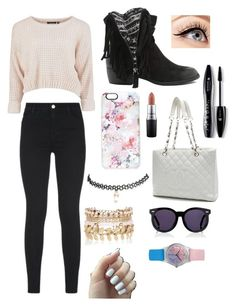 """""""Untitled #44"""" by agusmachado16 on Polyvore featuring J Brand, Qupid, Casetify, Chanel, Wet Seal, Karen Walker, River Island, May28th, MAC Cosmetics and Lancôme"""