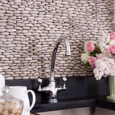 Stone backsplash. So cool but how do clean it?