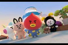 BT21 battle to protect love ! Their fight begins now ! Bts Emoji, Army Crafts, Bts Wallpaper Lyrics, Bts Gifs, Islamic Cartoon, Pop Stickers, Bts Beautiful, Anime Fnaf, Bts Funny Videos