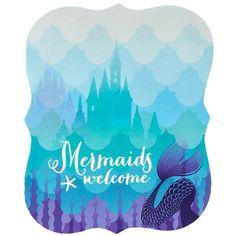 Mermaids Under the Sea Invitations (8) from BirthdayExpress.com