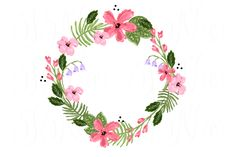 """4 unique Wreath Floral clip art, laurel, arrows, hearts, floral elements and signs """"and"""" and """"the"""", typography, embellishments in pastel colors perfect for modern wedding invitations, blogs,"""