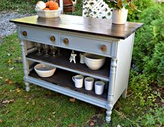 Heir and Space: A Handsome Kitchen Island from an old dresser