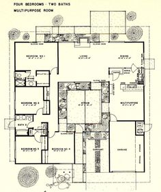 1000 images about eichler houses on pinterest joseph Eichler atrium floor plan