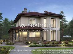 Красивый дом с эркером № V-166-1P