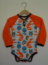 BO009 Body skogsdyr oransje str. 80 Norway, Wetsuit, Onesies, Swimwear, Kids, Handmade, Clothes, Design, Fashion