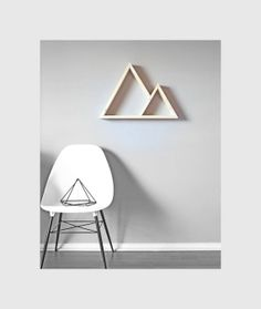 Large Geometric Shelf . Mountain Shelving . Handmade Decorative Shelf . Rustic . Modern on Etsy, $59.00