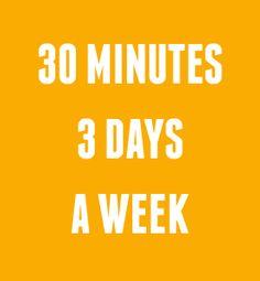 Jede Woche drei Tage für 30 Minuten Krafttraining reicht schon aus um sichtbare Erfolge bei der Reduktion des Körperfettanteils und bei der Muskeldefinition zu erreichen. Zudem fühlst du dich schon nach kurzer Zeit vitaler!