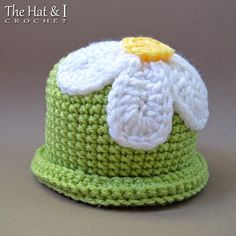 CROCHET PATTERN Spring Fling a beanie hat with by TheHatandI