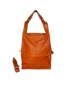 Eco Supermarket Laptop Bag Cognac | Lumi Accessories Cow Leather, Laptop Bag, Sling Backpack, Backpacks, Pocket, Bags, Accessories, Future, Closet