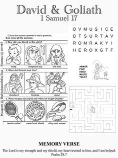 David and Goliath (Find Words Puzzle)- Kids Korner - BibleWise ...