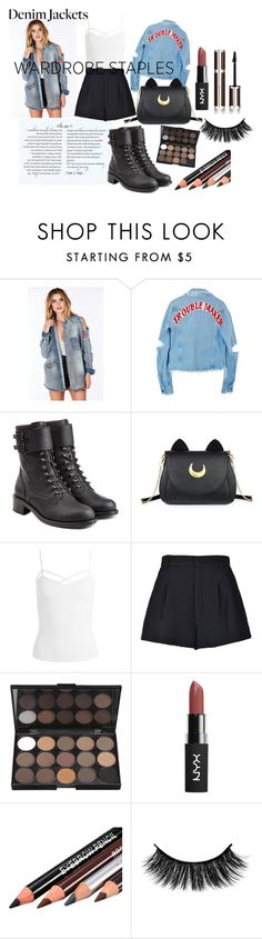 """""""kill da look2"""" by sunshine-189 ❤ liked on Polyvore featuring High Heels Suicide, Philosophy di Lorenzo Serafini, Usagi, Sans Souci, RED Valentino, Givenchy, denimjackets and WardrobeStaples"""