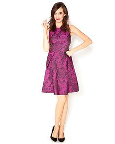 FLORAL TEXTURED DRESS PURPLE ready to wear dresses no classes fashion