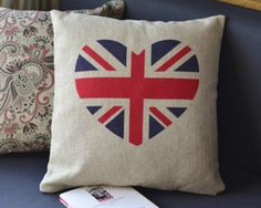 Heart-shaped British flag cotton cushions pillow rely pillowcases