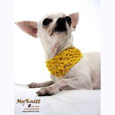 Boho Net Choker Pearl Necklace Dog Apparel Cat  by myknitt #dogs #cats #jewelry #accessories #choker #pearl #crochet #diy