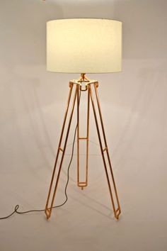 Dual-Leg Large Tripod Lamp by AtDCopperCreations