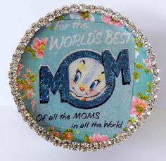 surprise your mama with a small gift in this little paper mache box container.