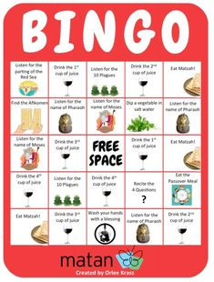 Passover Bingo is one of our favorite ways to keep kids engaged during the Passover seder. You can give out sheets of stickers for marking the boxes on the bingo boards. We suggest you make extra copies of the bingo boards – we usually find that the adults want their own! Download This Resource