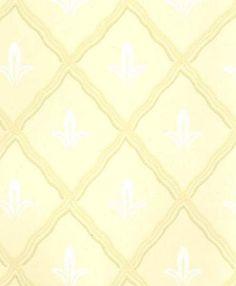 Yellow and White Diamond Trellis Wallpaper by WallpaperYourWorld