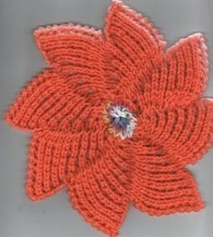 Zinnia-dishcloth