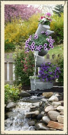 Galvanized steel fountain. Vintage country marketplace